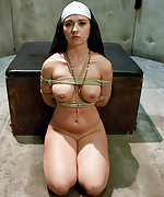 Shameful nun tied up, punished and fucked in every hole