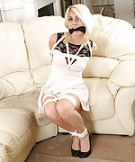 Gorgeous women all bound and gagged