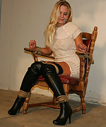 Barra chair-tied, cleave-gagged, tit-grabbed