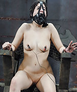 Cuffed, gagged, tortured, used and fucked