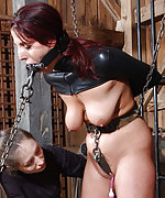Beauty suffers in very tight bondage
