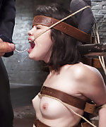 Hard time in bondage with training and orgasm